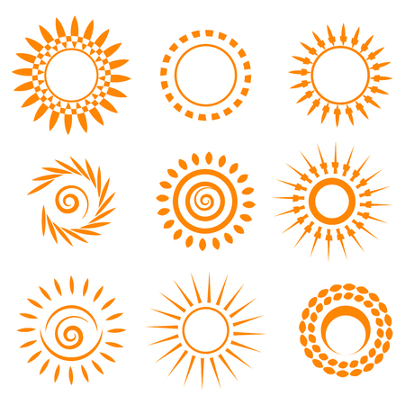 Symbolic sun set.  Vector