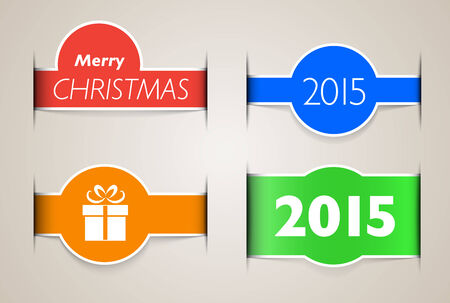 inset: Holiday web design elements like paper inset.
