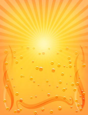 Sun Sunburst Pattern. Hot Summer background template. Vector illustration Vector
