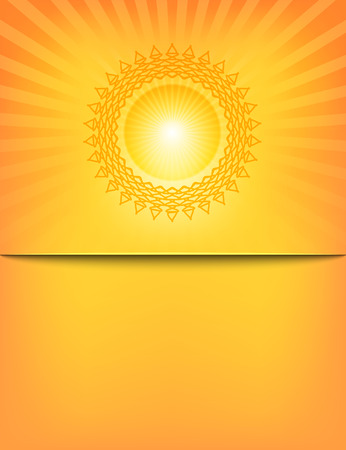 sun rays: Empty Sun Sunburst Pattern template. Vector illustration