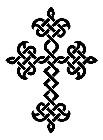 armenian: Traditional Armenian Apostolic Church plaited cross. Vector illustration Illustration