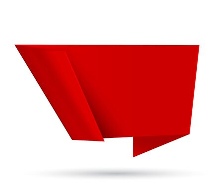 modern background: Red origami abstract speech bubble. Vector illustration Illustration