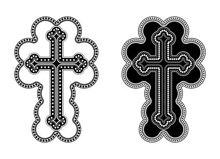 armenian: Traditional Armenian Apostolic Church cross clip art. Vector illustration Illustration