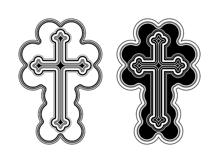blessed trinity: Traditional Armenian Apostolic Church cross clip art. Vector illustration Illustration