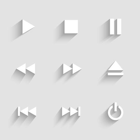 multimedia: Multimedia icons. Light flat design.
