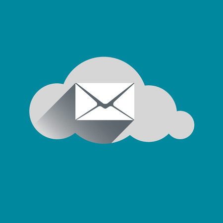 Email sign in Cloud flat design icon. Vector illustration Illustration