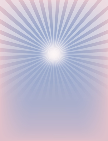 serenity: Empty Sun Sunburst Pattern. Rose Quartz and Serenity colors. Illustration