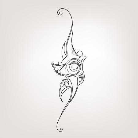 eleganz: Eleganz Tinte spritzen Illustration mit Blume