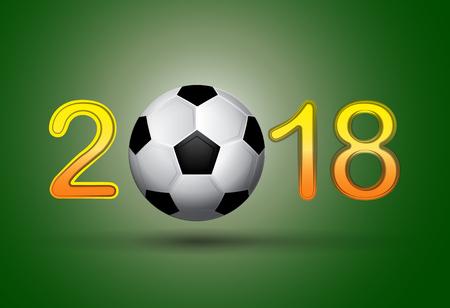 Soccer ball in 2018 Vector illustration