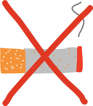 non: non smoking cartoon sign Illustration