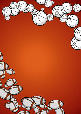 Sport - background with balls photo