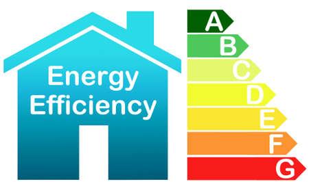 eficiencia energetica: Energía del símbolo de eficiencia