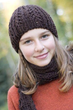 Beauty girl autumn portrait Stock Photo - 3756617