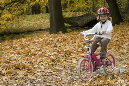 Autumn bike riding photo