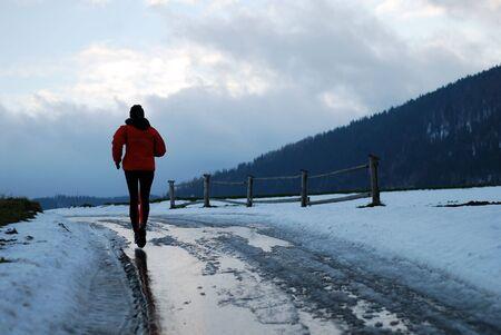 Winter jogging