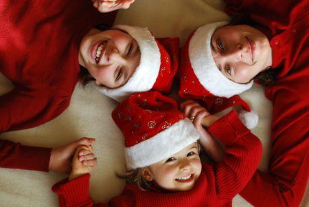 christmas time: Happy  family at Christmas time
