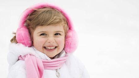 Happy girl winter portrait