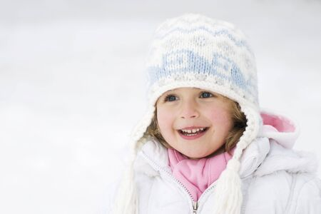 Cute girl winter portrait