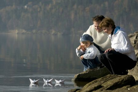 boating: Paper boat racing