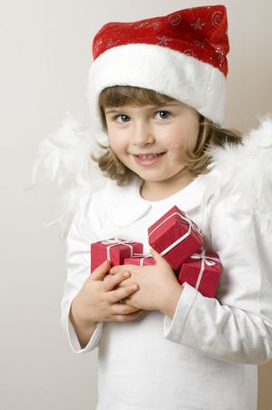 god box: Happy Angel with Christmas presents