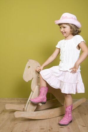 Little western girl portrait photo