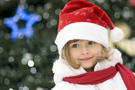 christmas girl: Cute girl  at Christmas time Stock Photo