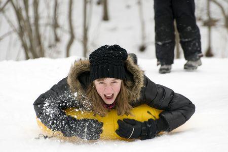 tubing: Fun on snow