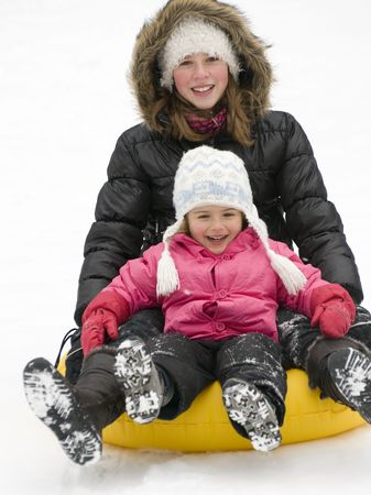 playing on snow photo
