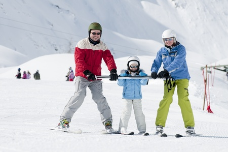 ski goggles: Sporty family