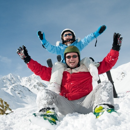 Ski, snow, sun and fun Stock Photo - 8344926