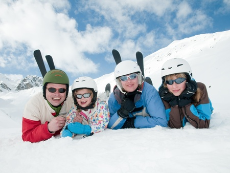 Family, ski, sun and fun photo
