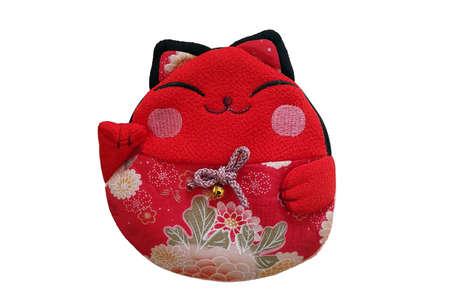 neko: Maneki neko - Japanese Lucky Cat purse or kimono fabric Women Wallet