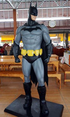 batman: Chachoengsao,THAILAND - FEB 09, 2016 : Batman model at Wat samarn temple
