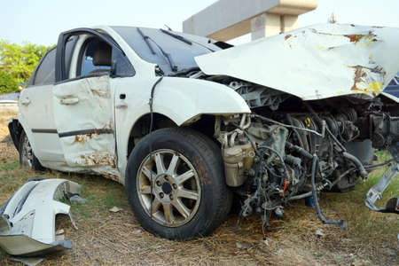 totaled: Broken car - accident