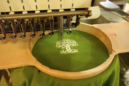 embroidery: Machine embroidery