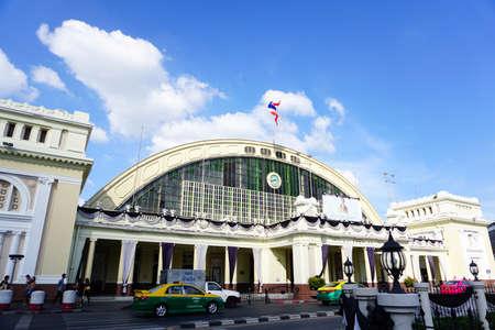 Bangkok,Thailand : Febuary15,2017 -  Bangkok Railway Station (Hua Lamphong) is built in 1916 in an Italian Neo-Renaissance style