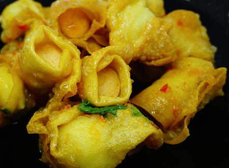 Fried dumpling Wrap sausage skewers