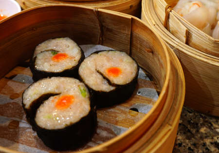 Dimsum in morning time in chinese restaurant