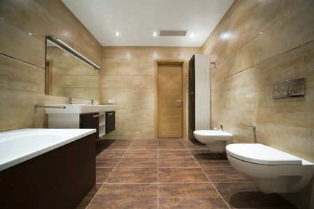 bathroom tiles: Designer bathroom Stock Photo