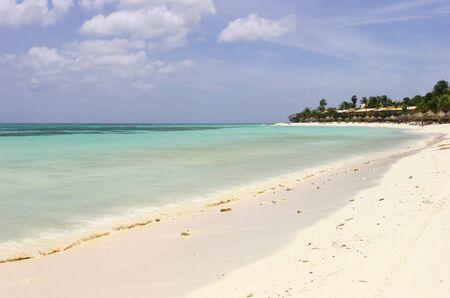 Caribbean sea in Aruba photo