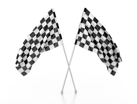 racing flags. 3d illustration illustration
