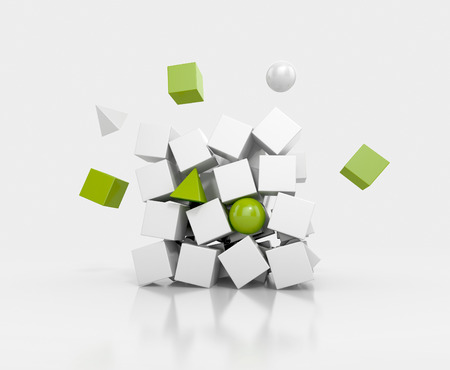 Variation of Cubes. Abstract background Stock Photo