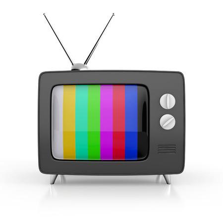 retro tv: retro tv. 3d illustration