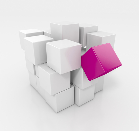 abstract cubes: Variation of Cubes. Abstract background Stock Photo