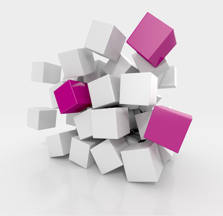 variation: Variation of Cubes. Abstract background Stock Photo