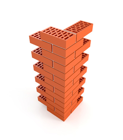brick pillar. 3d illustration