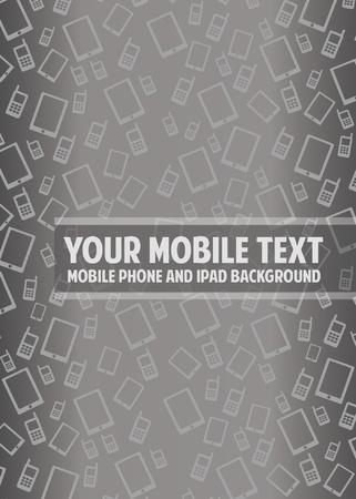 mobil: Achtergrond Mobiele vectorillustratie