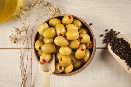 green olives Stok Fotoğraf - 26360869