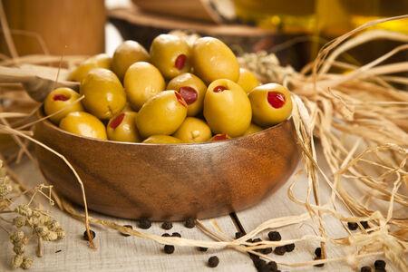 green olives Stok Fotoğraf - 26360871