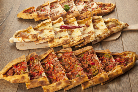 Turkish pide - Stock Image Stock Photo